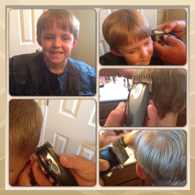 boys buzz cut with hair clippers