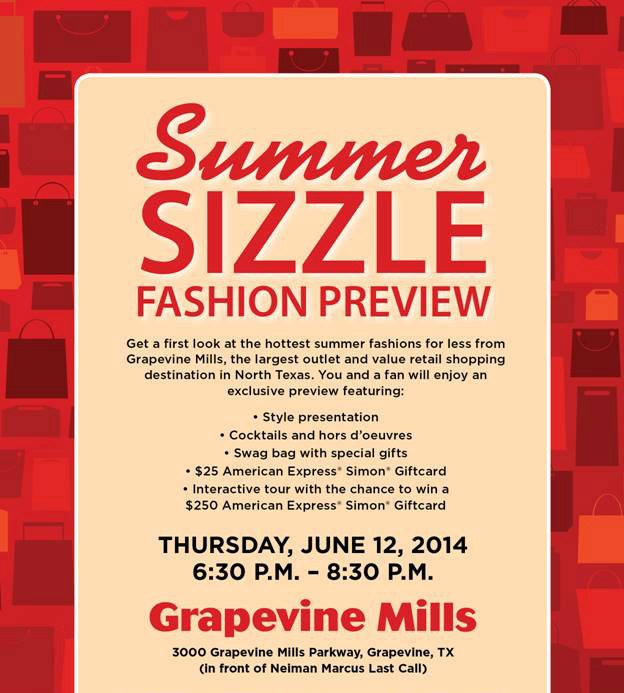 Grapevine Mills Mall Summer Fashion Preview