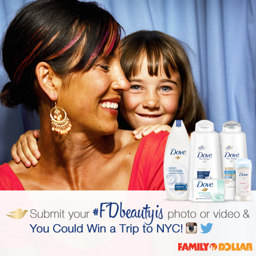 Share Your Beauty For A Chance To Win A Trip To New York City From Dove & Family Dollar! #FDBeautyis
