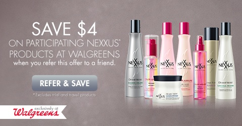 Save $4 on Nexxus Products at Walgreens