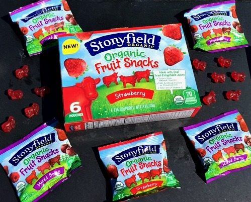 Stonyfield fruit snacks