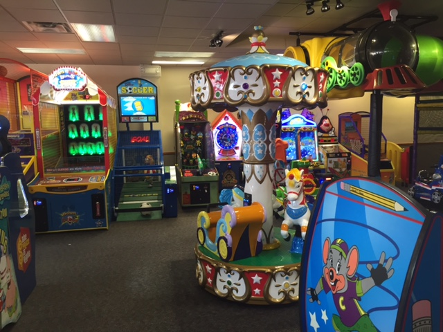When you arrive at Chuck E. Cheese's you can purchase time and it will be linked to a gaming card. Kids can use their card to play any game with no restrictions. Each block of purchased time allows for 2 pauses which you can activate at a kiosk for those bathroom trips and mealtimes.